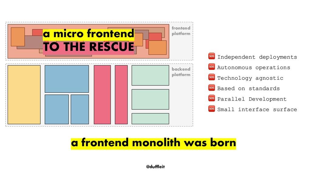 @duffleit frontend platform backend platform In...