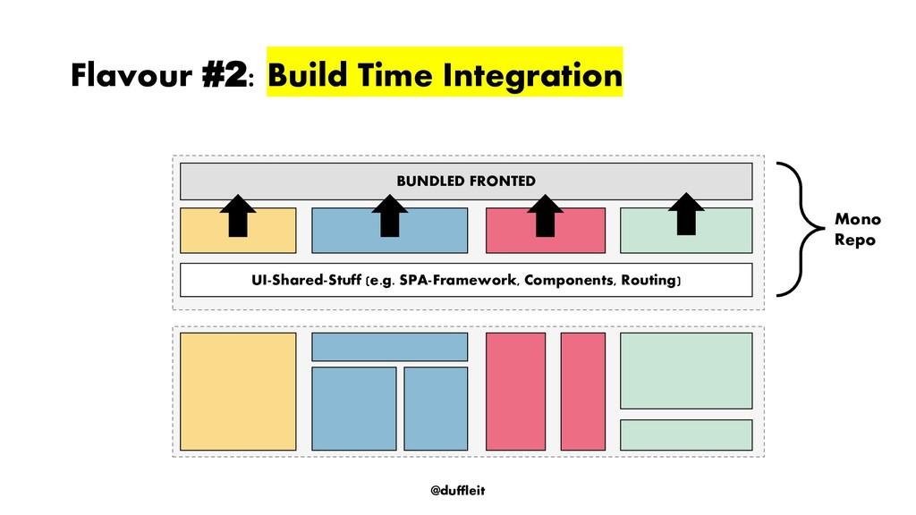 @duffleit Flavour #2: Build Time Integration BU...