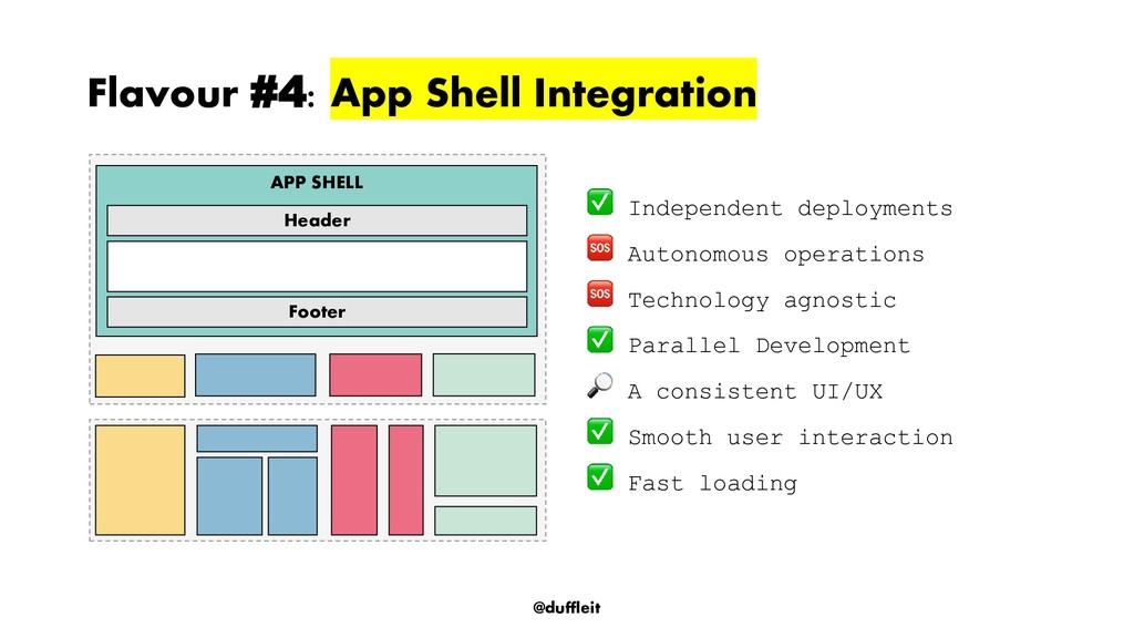 @duffleit Flavour #4: App Shell Integration Ind...