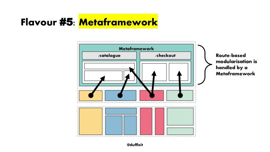 @duffleit Flavour #5: Metaframework Route-based...