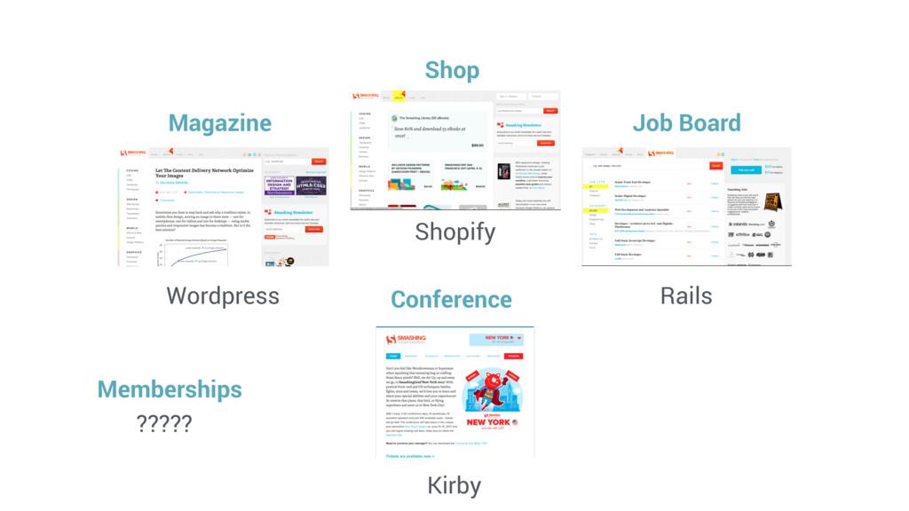 Wordpress Shopify Rails Kirby Magazine Shop Job...