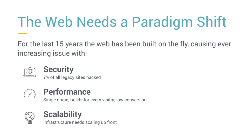 For the last 15 years the web has been built on...