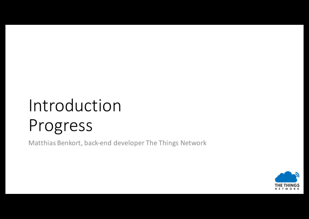 Introduction Progress Matthias Benkort, back-en...