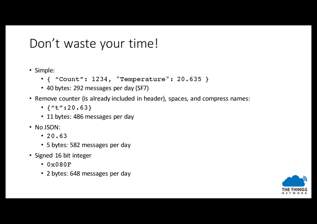 """Don't waste your time! • Simple: • { """"Count"""": 1..."""