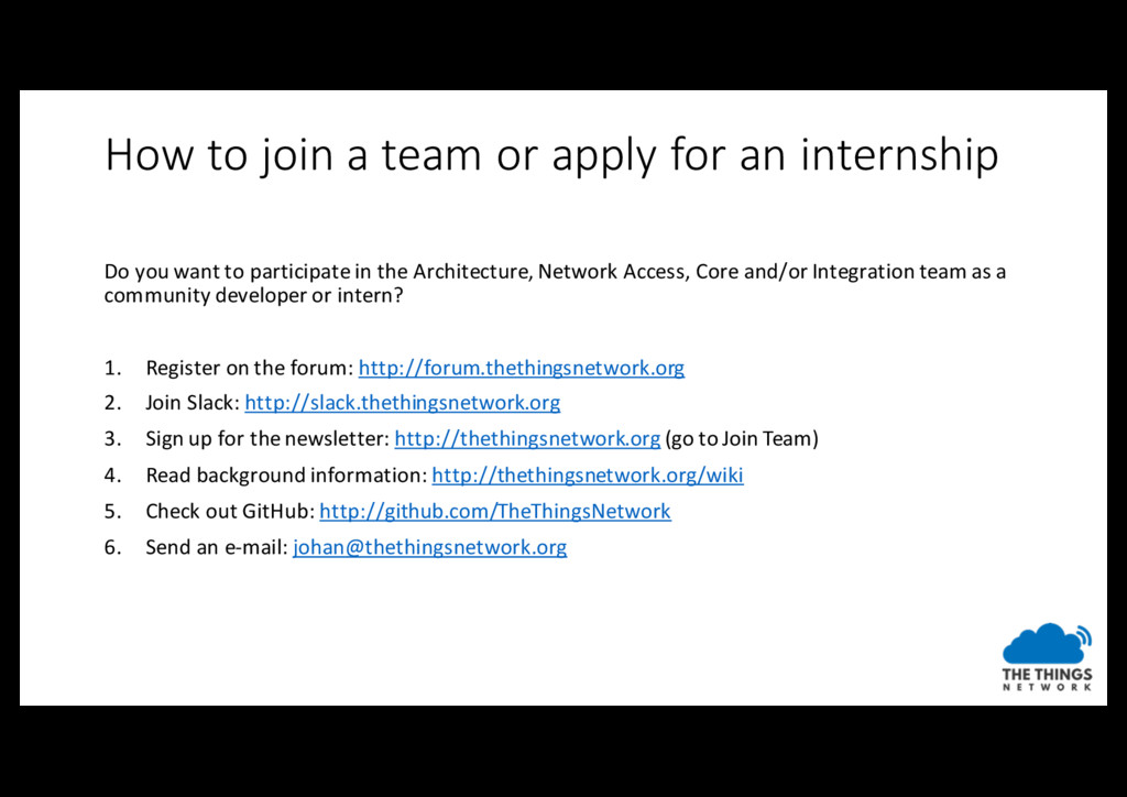 How to join a team or apply for an internship D...