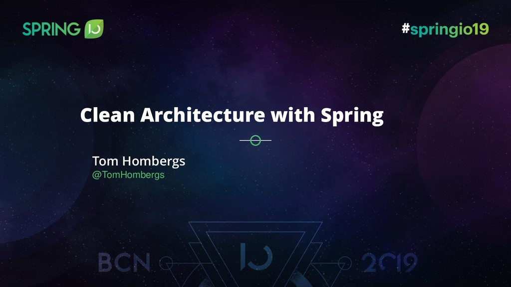 Tom Hombergs @TomHombergs Clean Architecture wi...