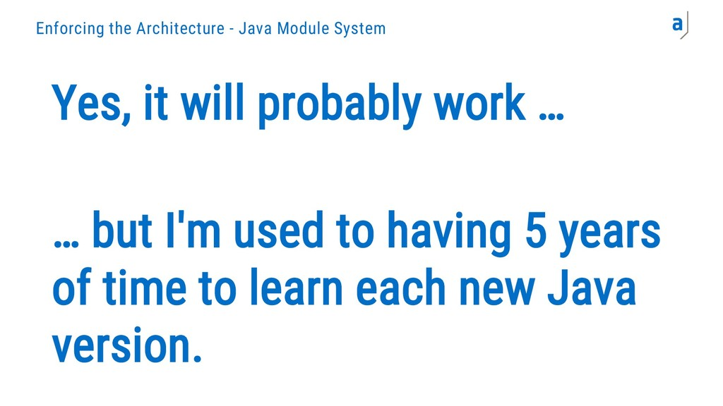 Enforcing the Architecture - Java Module System...