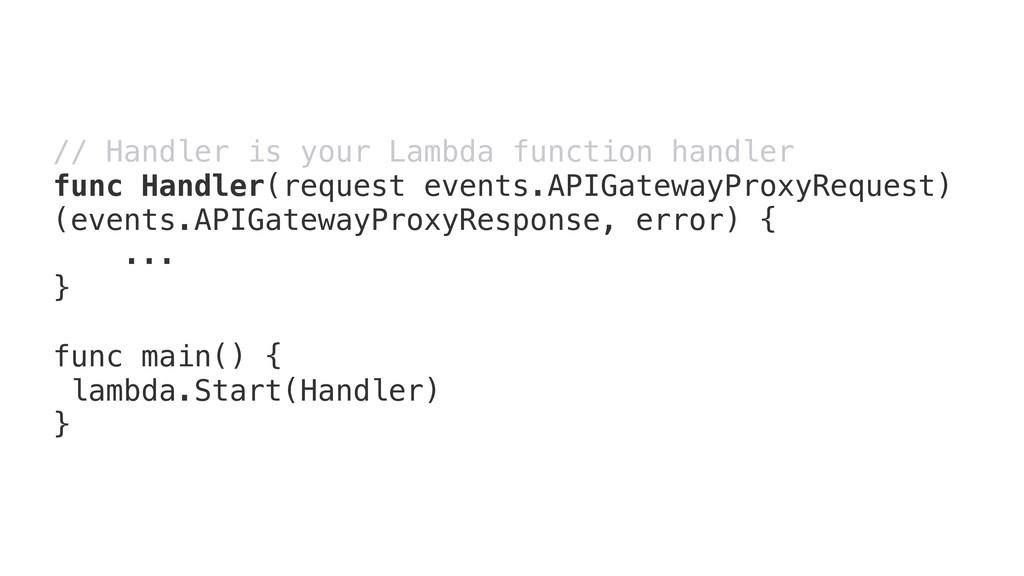 // Handler is your Lambda function handler func...