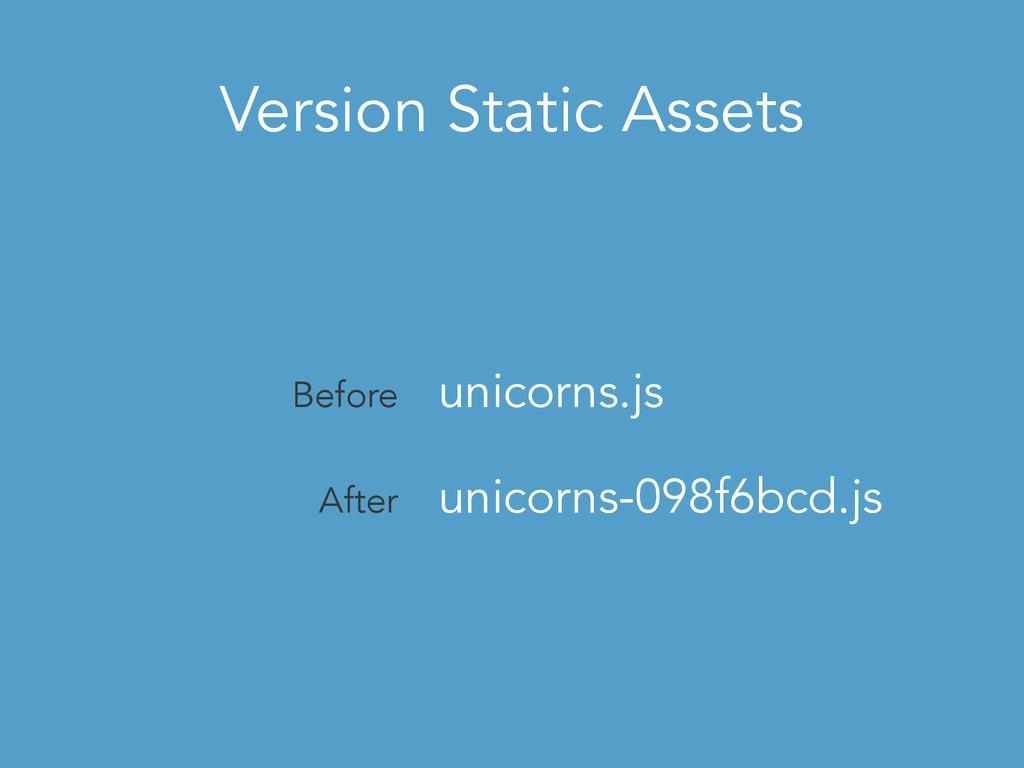 Version Static Assets Before unicorns.js After ...