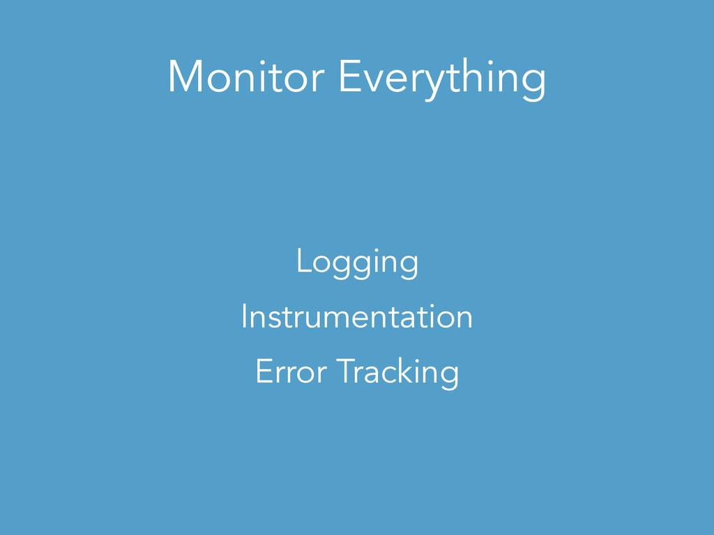 Monitor Everything Logging Instrumentation Erro...