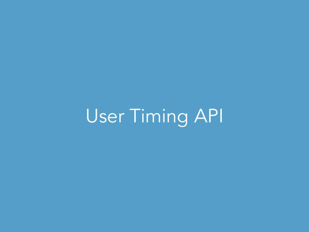 User Timing API
