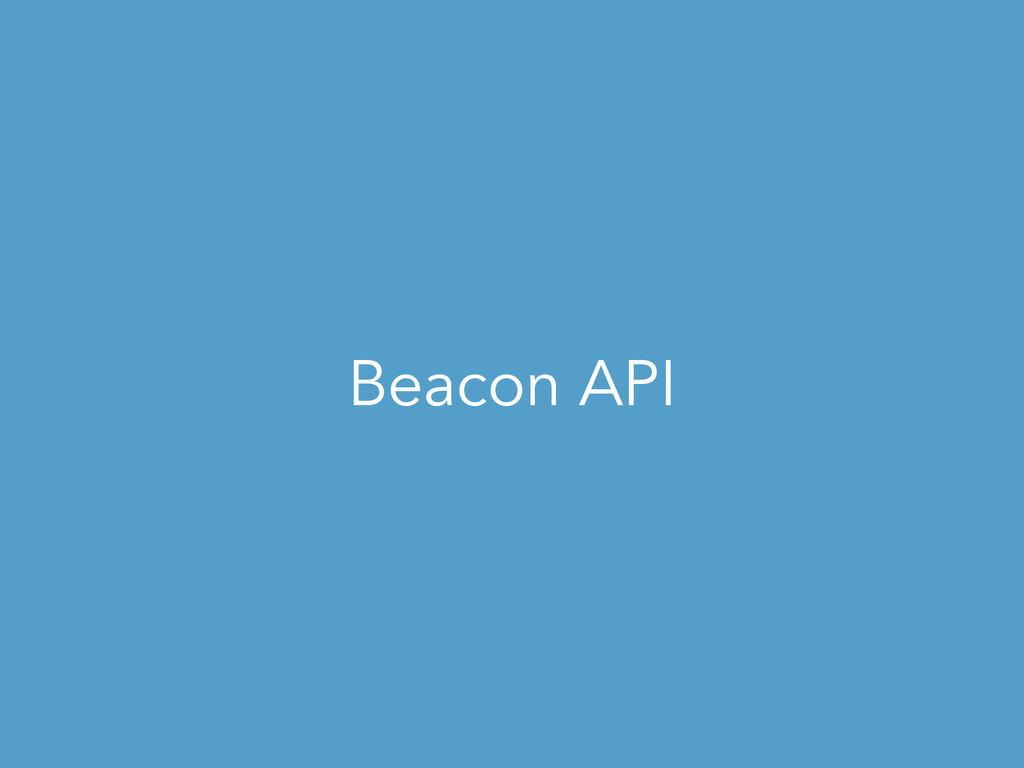 Beacon API