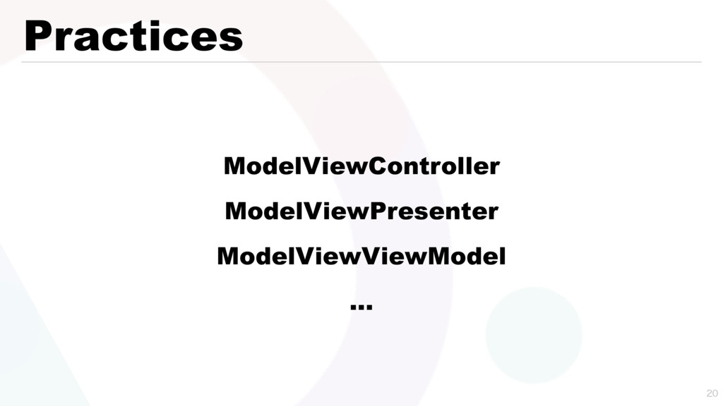 Practices  ModelViewController ModelViewPrese...