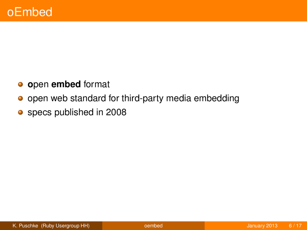 oEmbed open embed format open web standard for ...