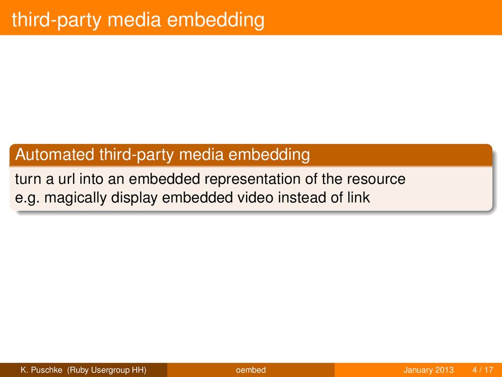 third-party media embedding Automated third-par...