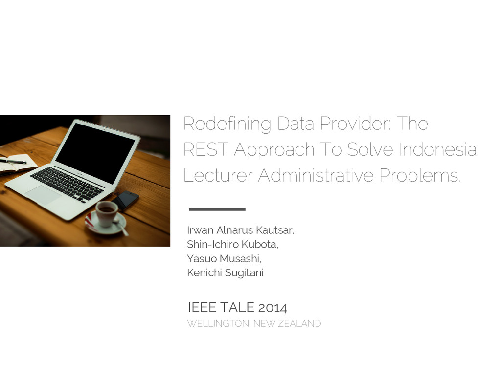 Redefining Data Provider: The REST Approach To ...