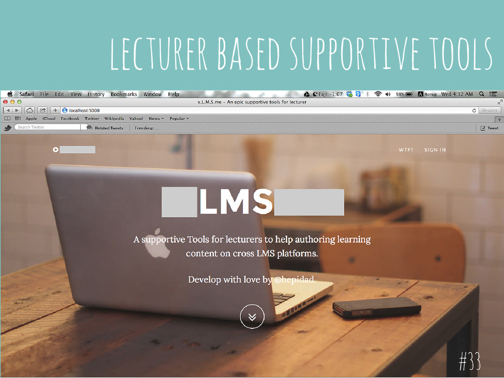 lecturer based supportive tools #33
