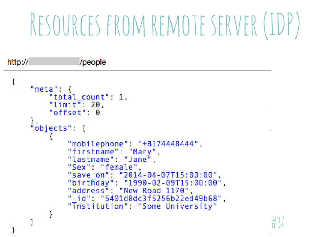 Resources from remote server (IDP) #37