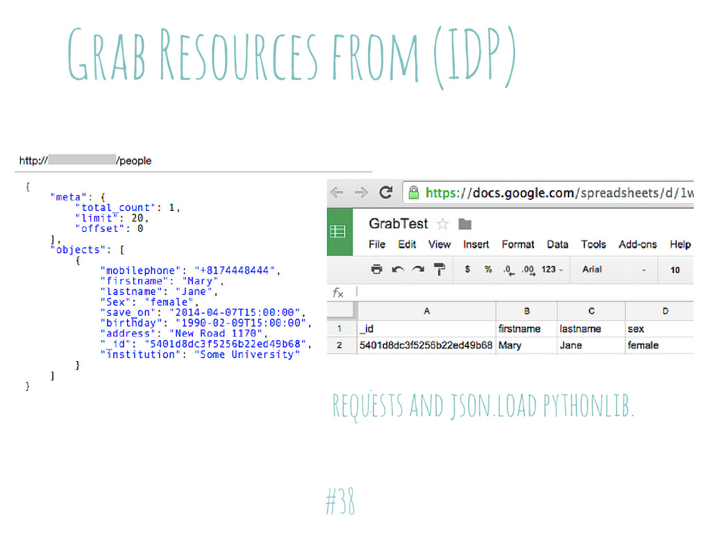 Grab Resources from (IDP) requests and json.loa...