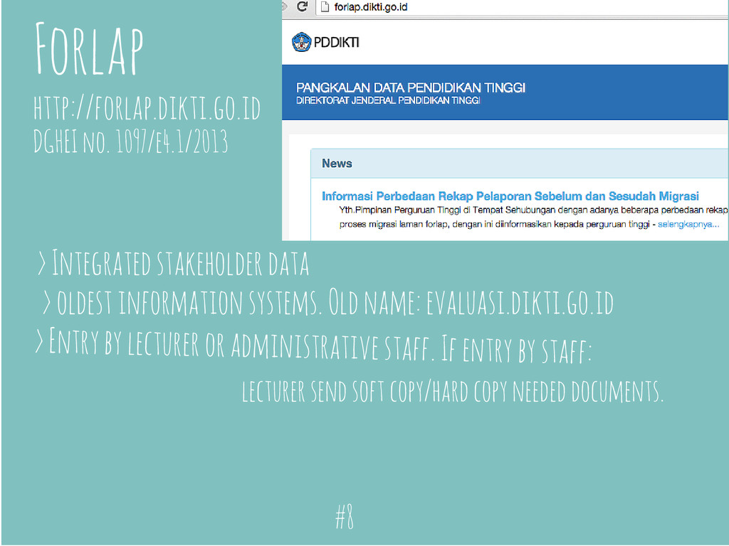 Forlap http://forlap.dikti.go.id > Integrated s...