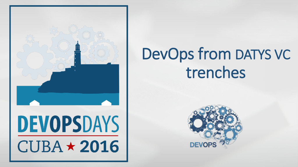 DevOps from DATYS VC trenches