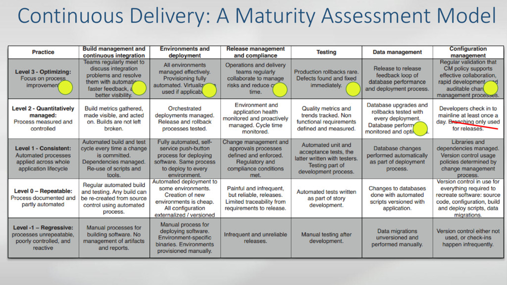 Continuous Delivery: A Maturity Assessment Model