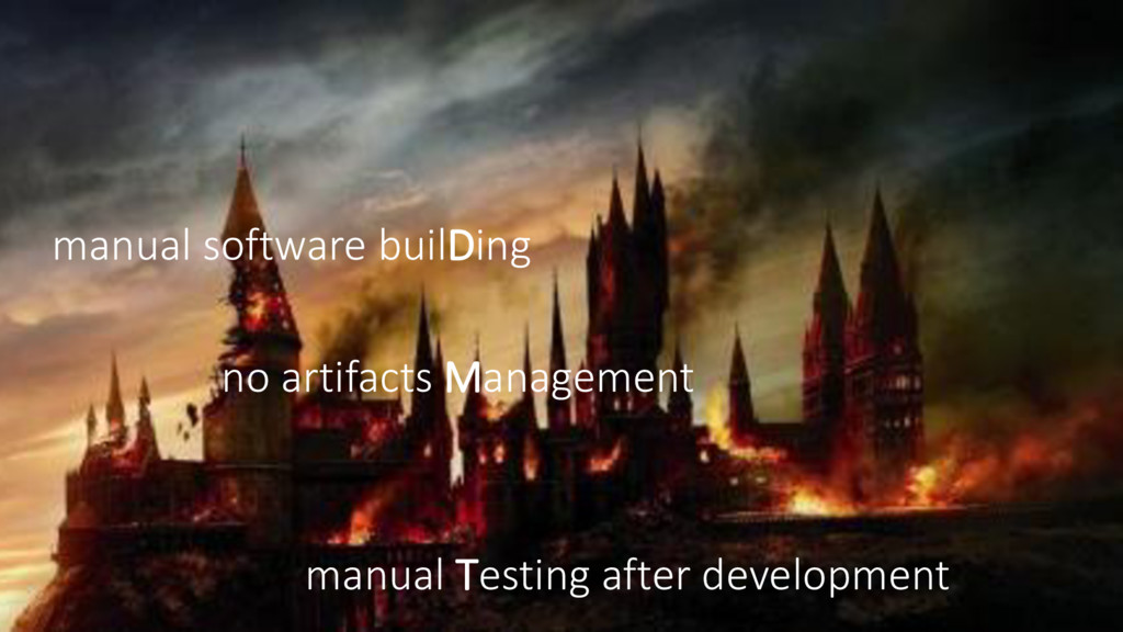 manual software builDing no artifacts Managemen...