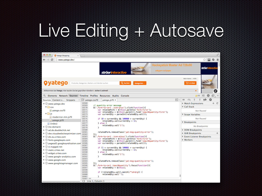Live Editing + Autosave