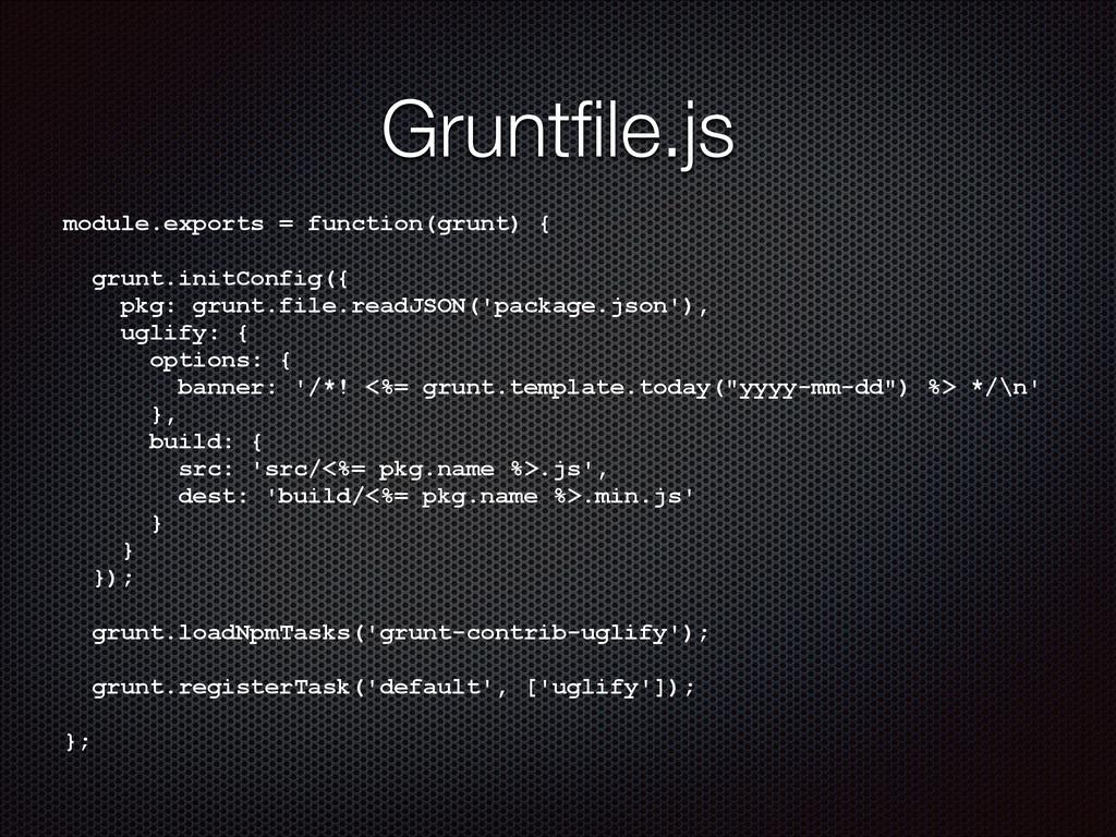 module.exports = function(grunt) { ! grunt.init...