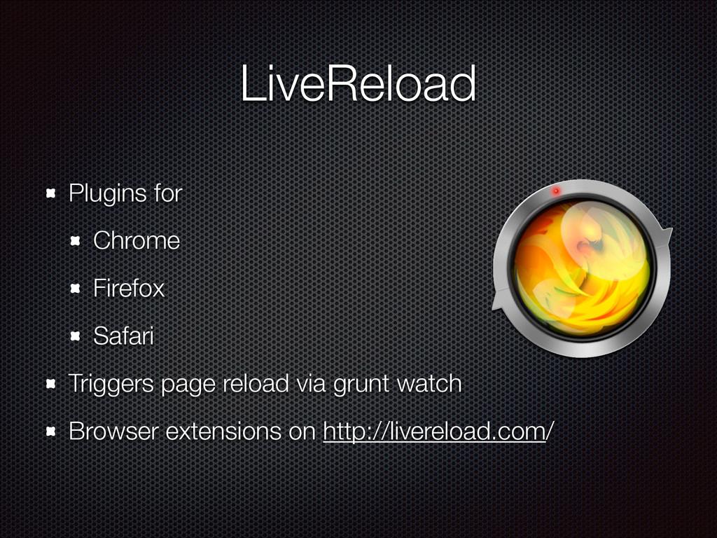 LiveReload Plugins for Chrome Firefox Safari Tr...