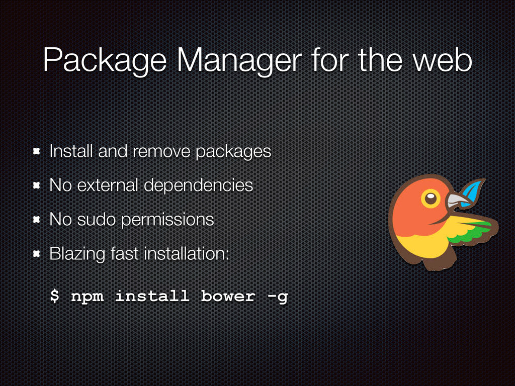 Package Manager for the web Install and remove ...