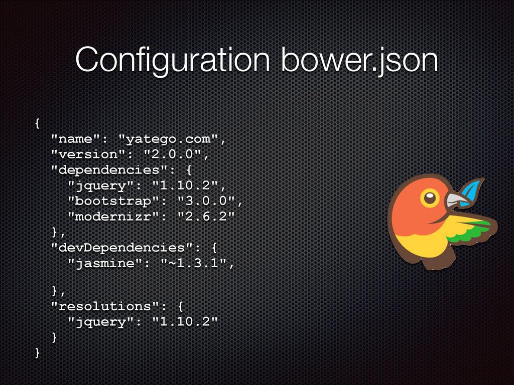 """Configuration bower.json { """"name"""": """"yatego.com""""..."""