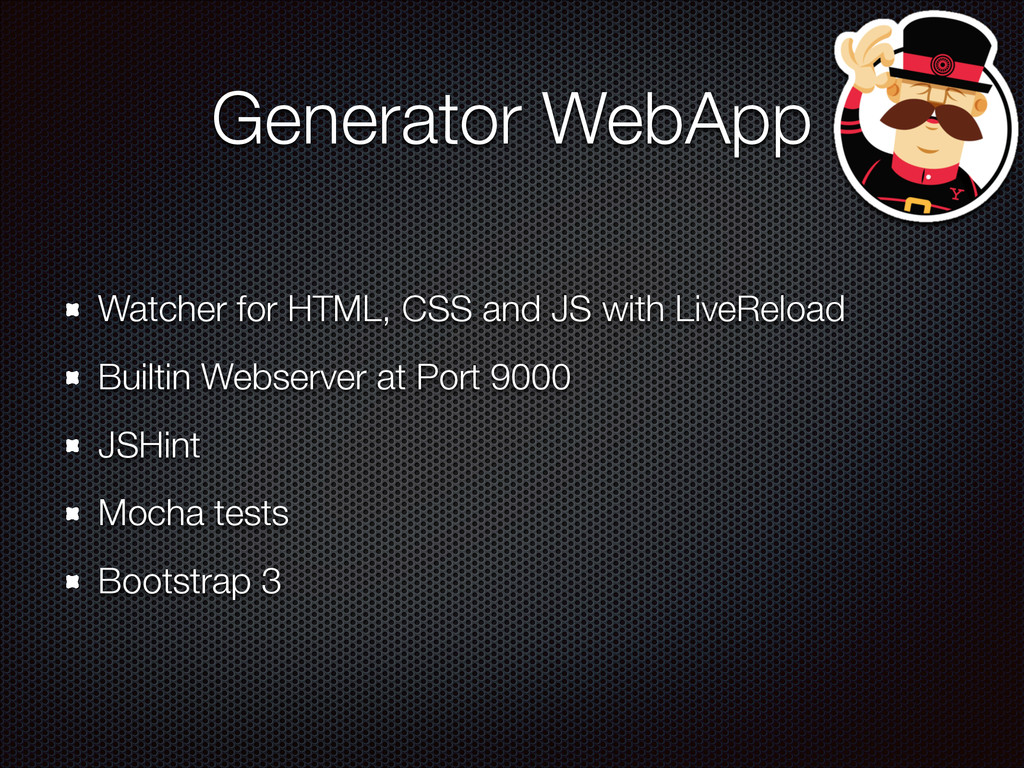 Generator WebApp Watcher for HTML, CSS and JS w...