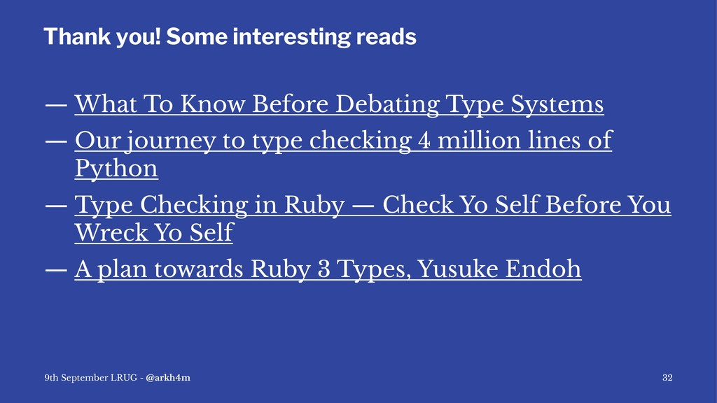 Thank you! Some interesting reads — What To Kno...