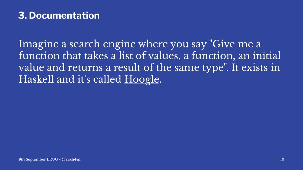 3. Documentation Imagine a search engine where ...