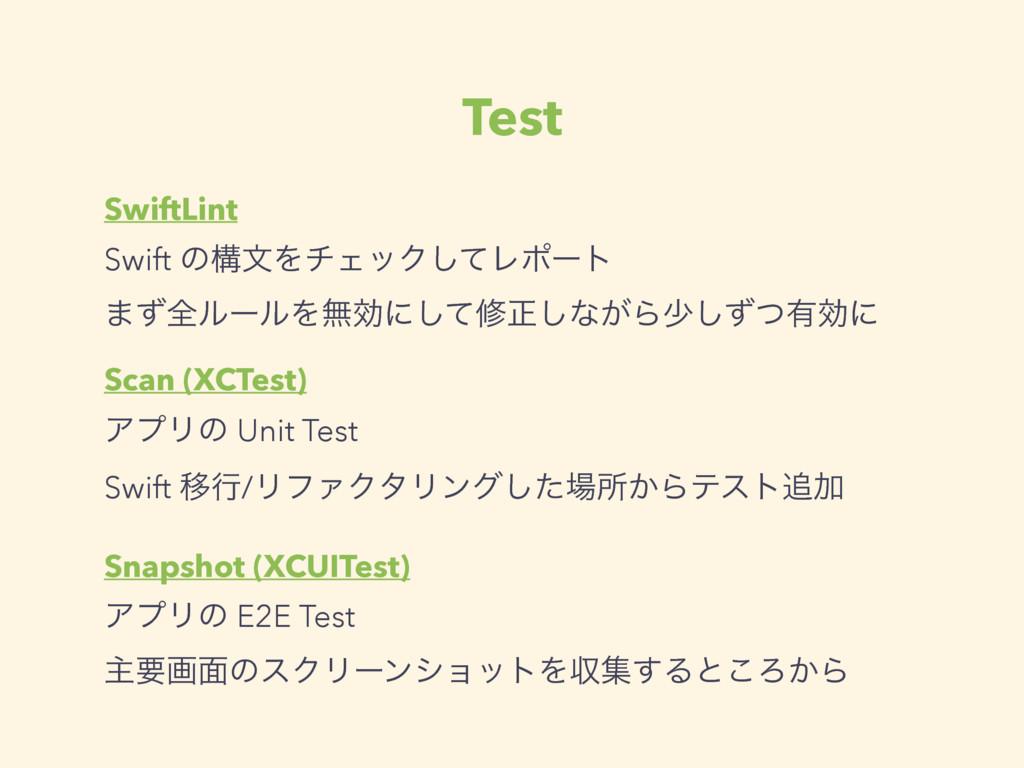 Test SwiftLint Swift ͷߏจΛνΣοΫͯ͠Ϩϙʔτ ·ͣશϧʔϧΛແޮʹ͠...