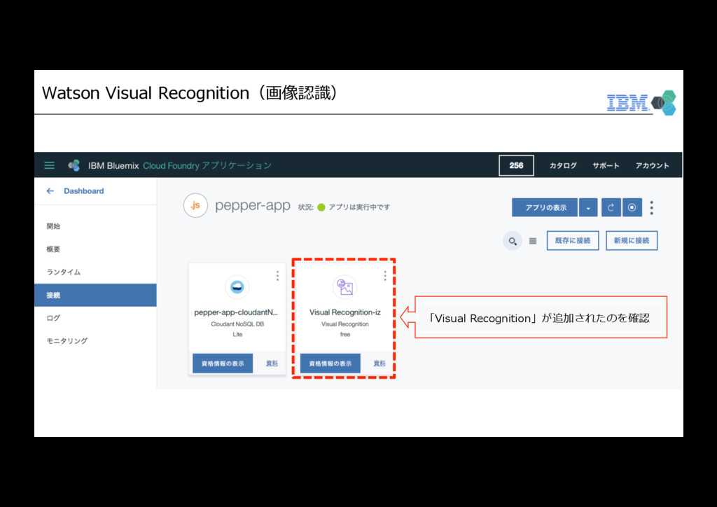 Watson Visual Recognition(画像認識) 「Visual Recogni...