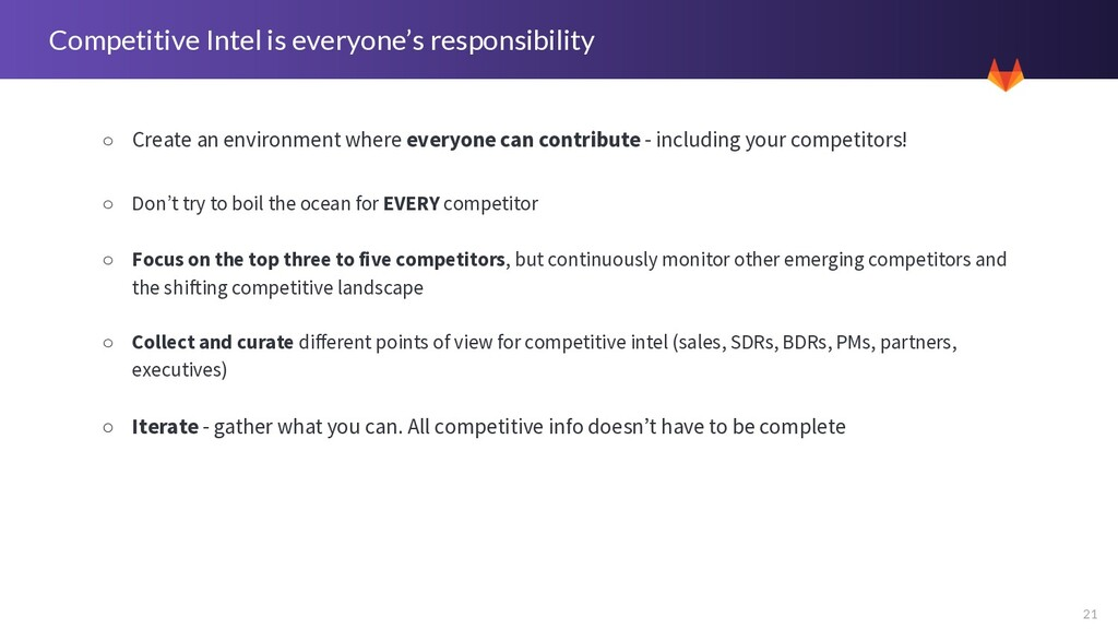 21 Competitive Intel is everyone's responsibili...