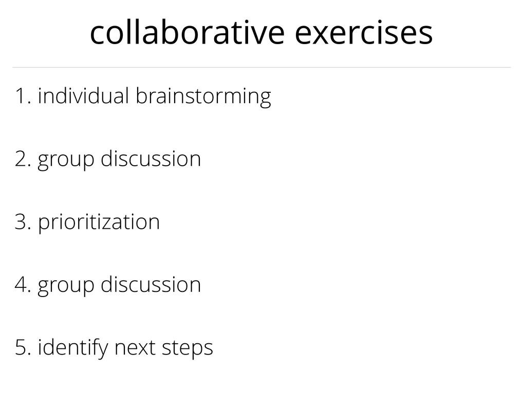 3. prioritization 1. individual brainstorming 2...