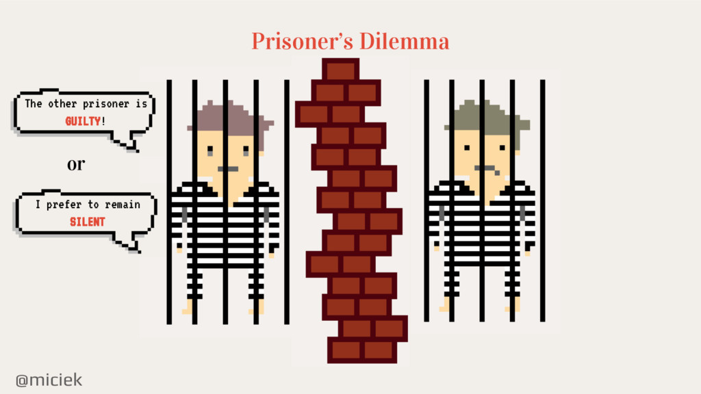 @miciek Prisoner's Dilemma The other prisoner i...