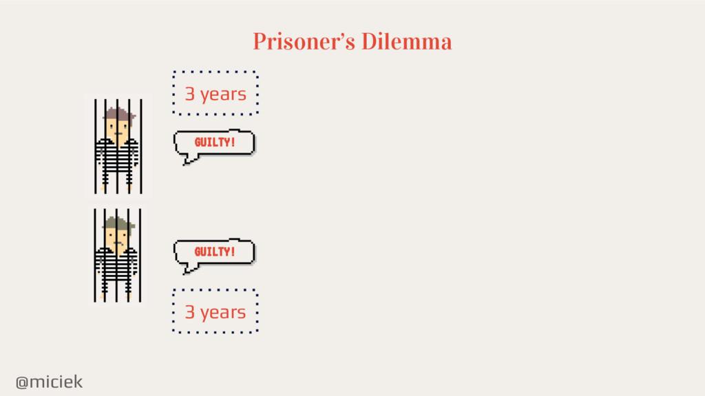 @miciek Prisoner's Dilemma GUILTY! GUILTY! 3 ye...