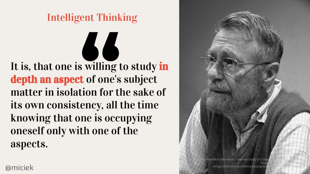@miciek Intelligent Thinking It is, that one is...