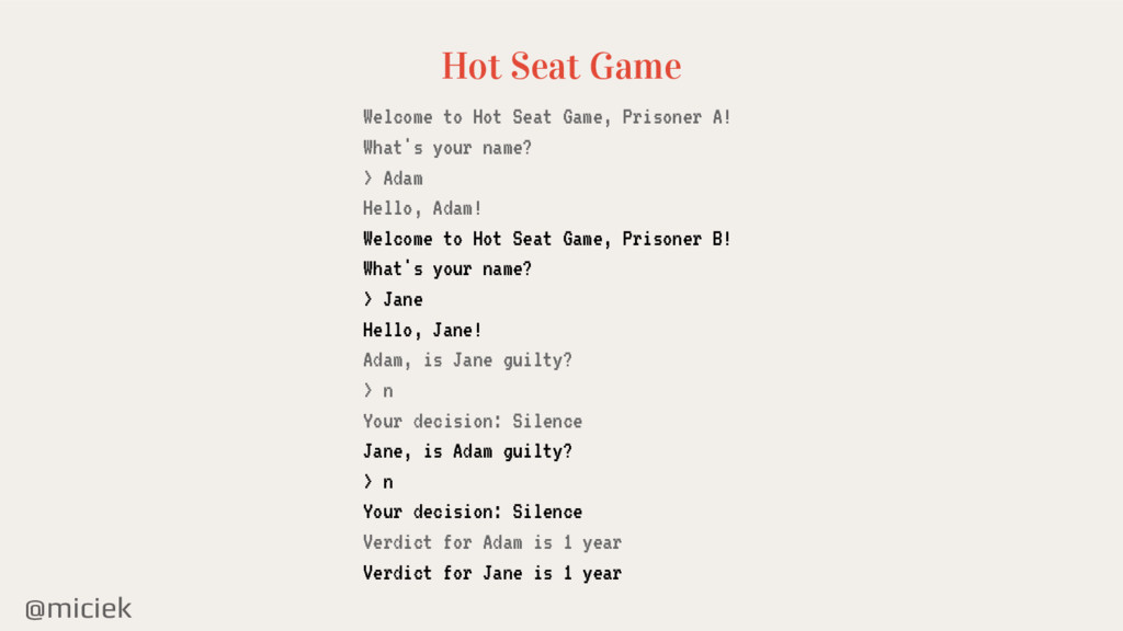@miciek Hot Seat Game Welcome to Hot Seat Game,...