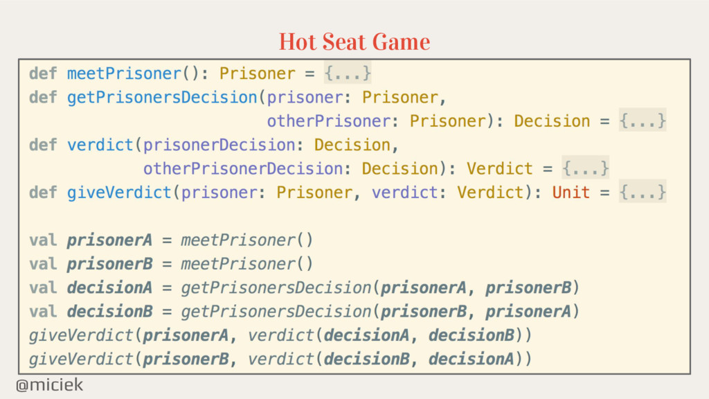 @miciek Hot Seat Game