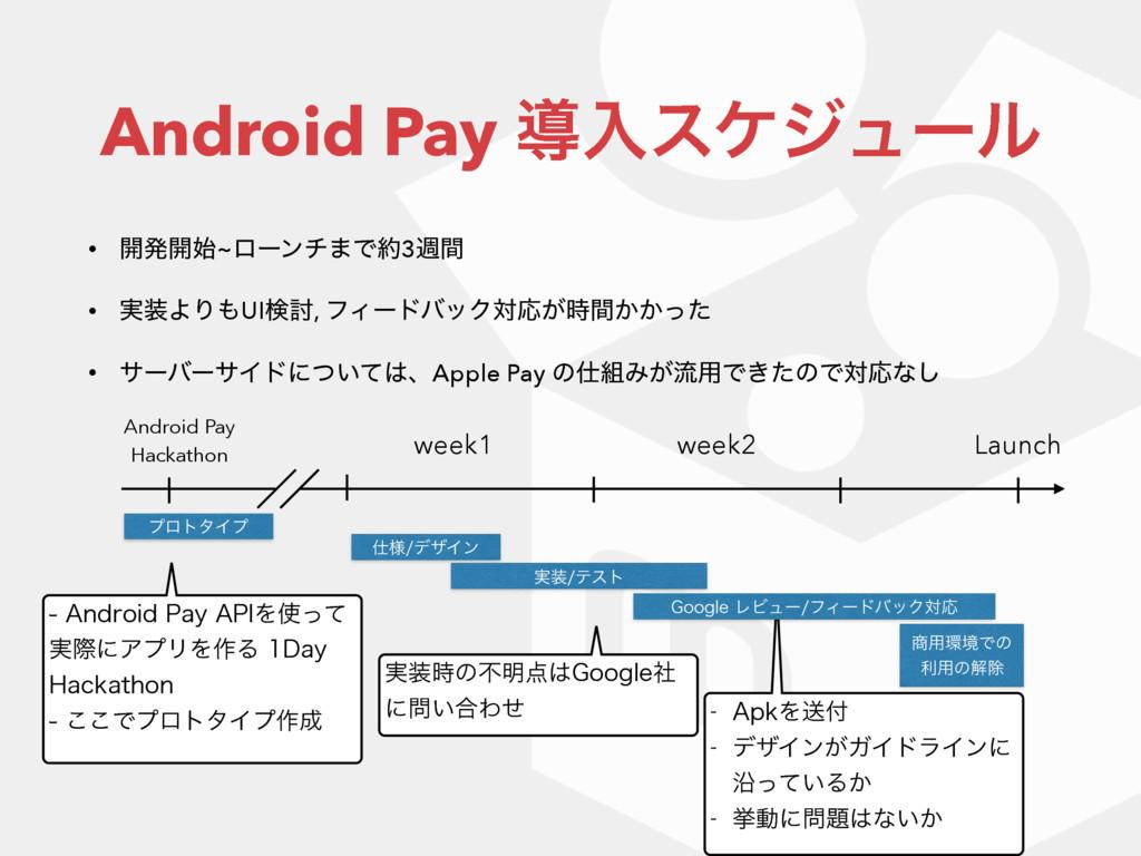 Android Pay ಋೖεέδϡʔϧ • ։ൃ։~ϩʔϯν·Ͱ3िؒ • ࣮ΑΓU...