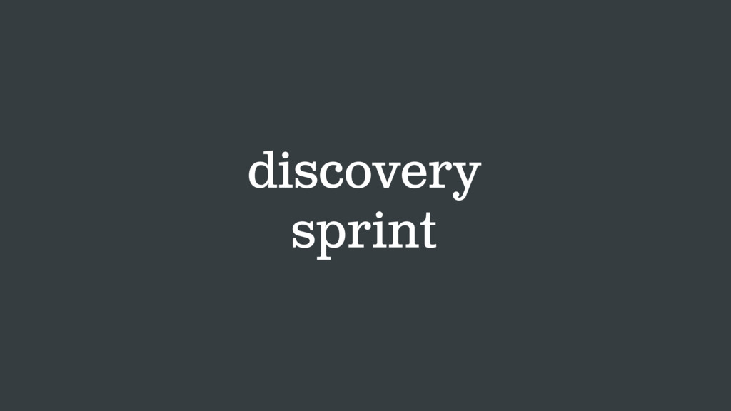 discovery sprint