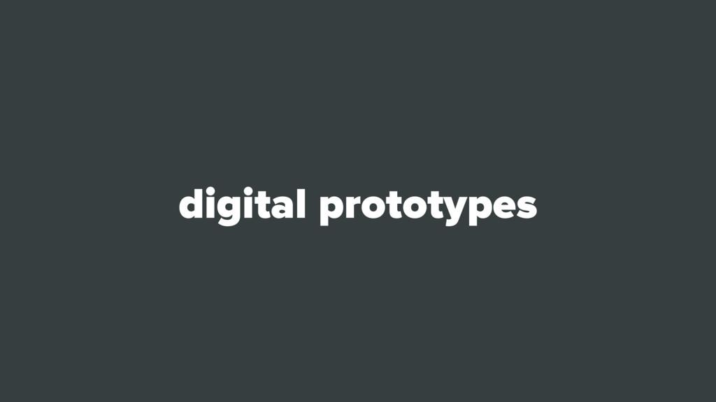 digital prototypes