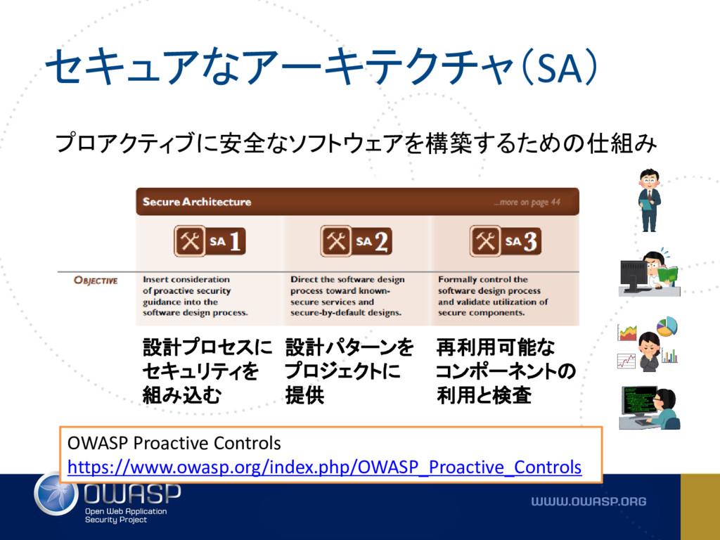 セキュアなアーキテクチャ(SA) OWASP Proactive Controls https...