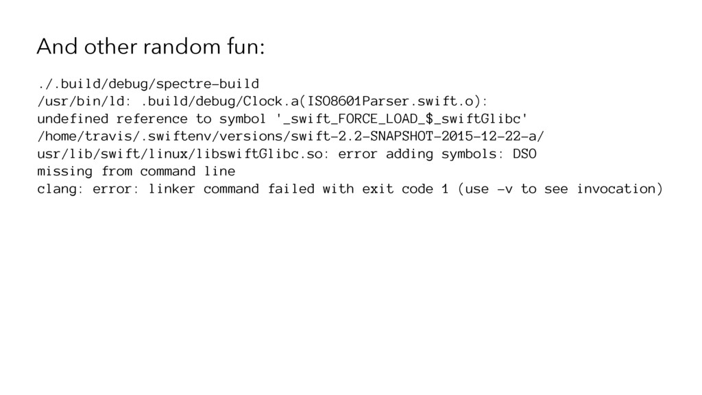 And other random fun: ./.build/debug/spectre-bu...
