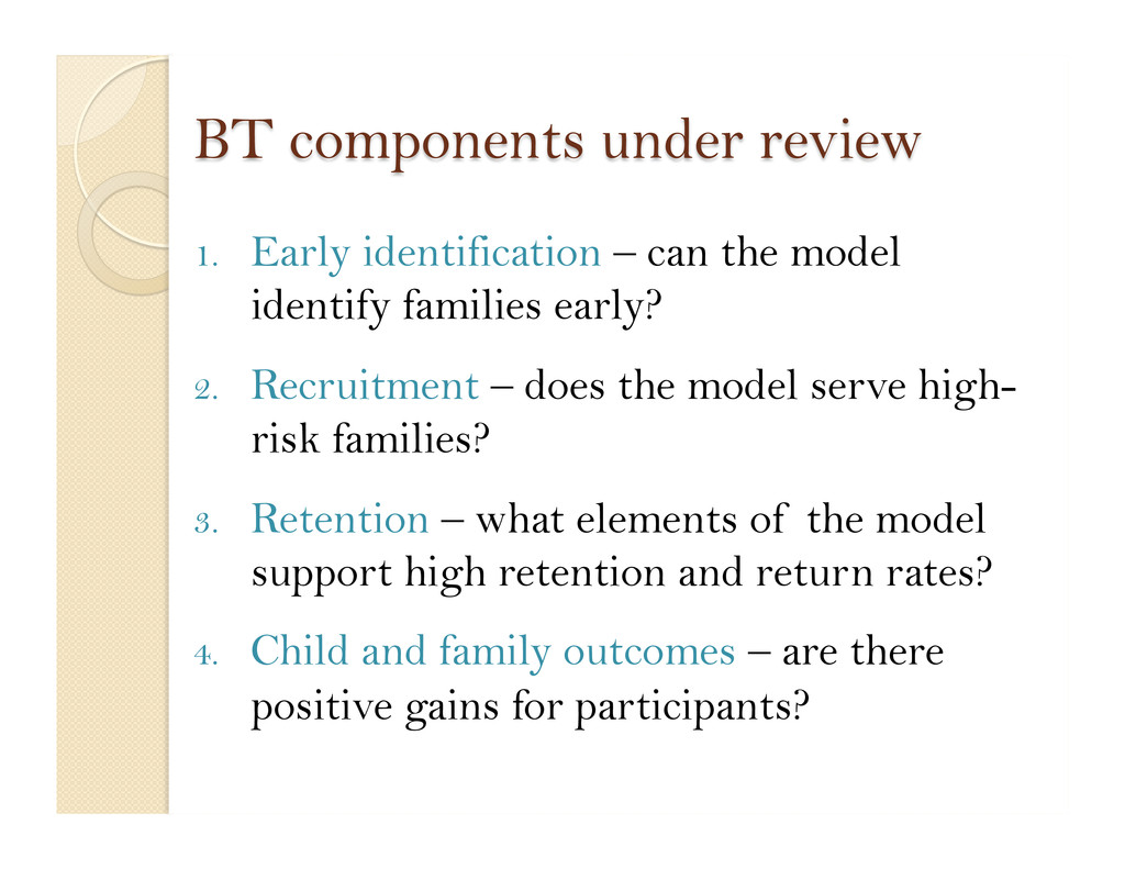 1. Early identification – can the model identi...